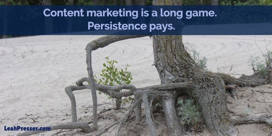 LegalTech Content Marketing Persistence Pays