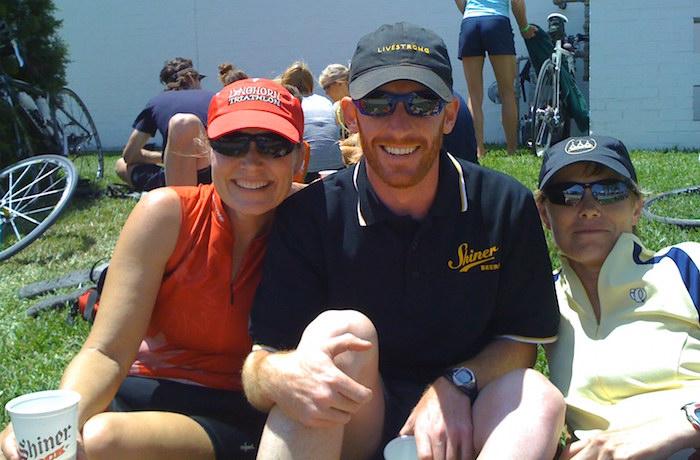 Leah Marty Cathy at 2008 Shiner GASP Ride
