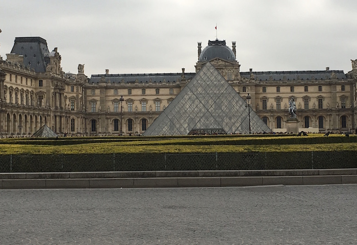 Louvre Museum with Cobblestones