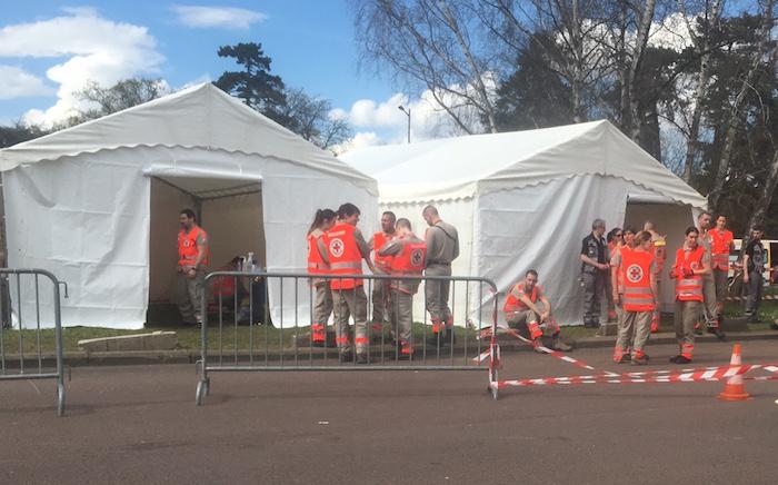 Paris Marathon Red Cross