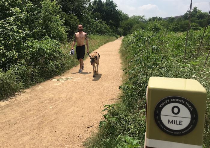 Start of Barton Creek Greenbelt Trail
