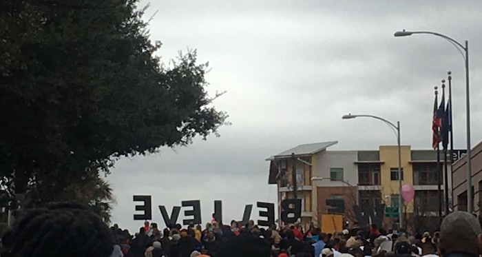 Walking in Dr. King's Footsteps at Austin's Women's March