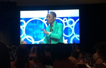Luvvie Ajayi BlogHer 2017 Big Screen