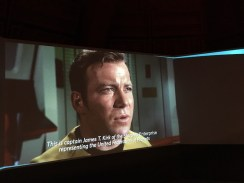 "What is ""Star Trek"" without Captain James T. Kirk? Short film at Museum of Pop Culture exhibit. Photo Credit: Leah Nyfeler"