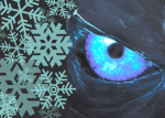 Night King's eye and snowflakes from Game of Thrones