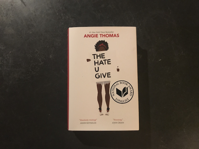 Hardback copy of The Hate U Give by Angie Thomas