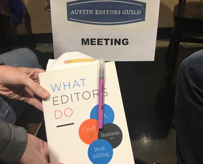 Book for Austin Editors Guild meeting What Editors Do