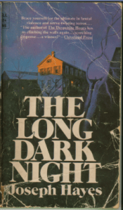 front cover paperback The Long Dark Night by Joseph Hayes