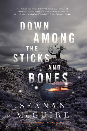 book cover down among the sticks and bones by seanan mcguire