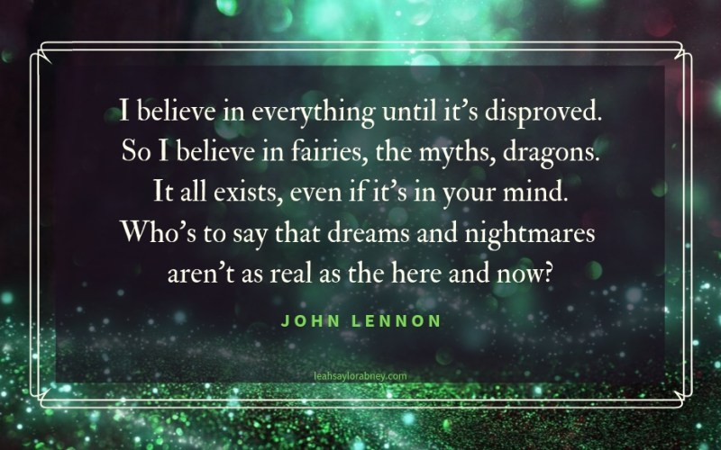 image quote by john lennon i believe in everything until its disproved