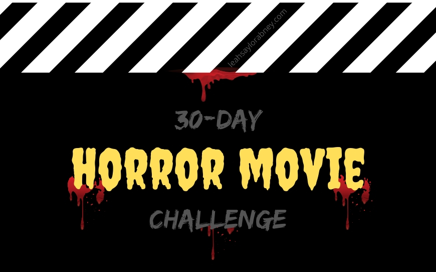 image clapperboard 30 day horror movie challenge 2019
