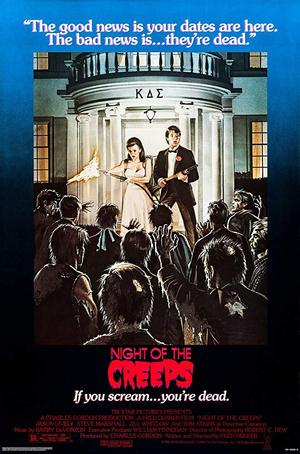 movie poster Night of the Creeps 1986