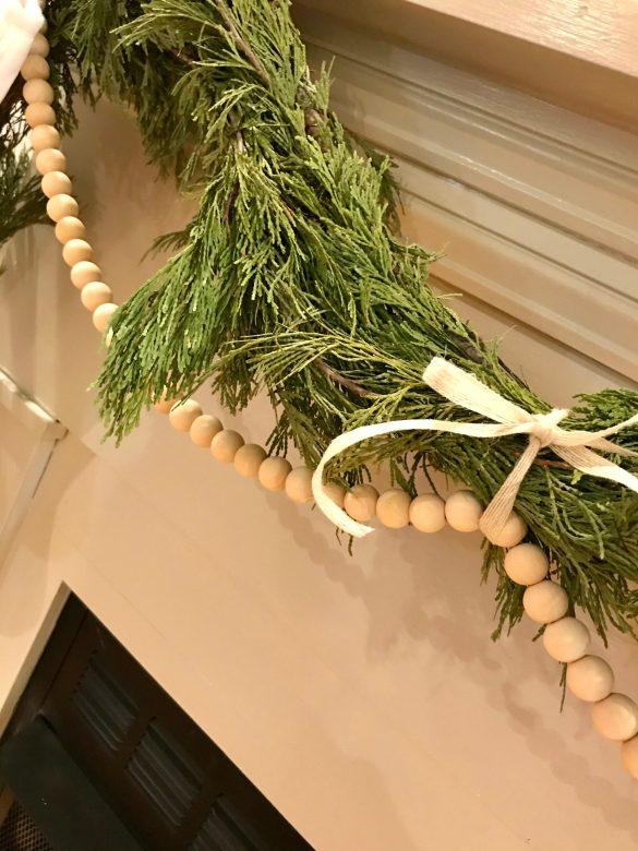 wood bead garland diy