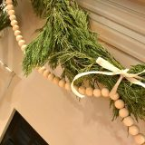 wood bead garland diy