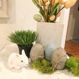 diy concrete easter eggs