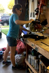 Using the miter saw