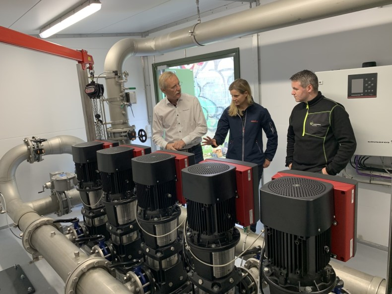 Pumping station - Professionals from Grundfos, NIRAS and the utility company - Frederiksberg Forsyning.