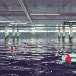 Tell-tale signs of water leaks in an underground carpark