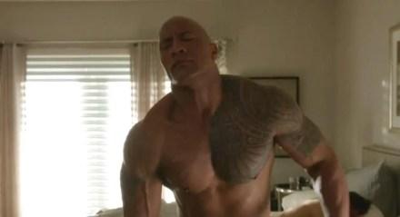 Watch Online |  The Rock Nude: Dwayne Johnson Strips Down!
