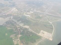 Flying over Kolkata.