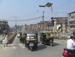 In the streets of Imphal, rickshaws are kings of the road.