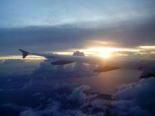 Flying to Tacloban.