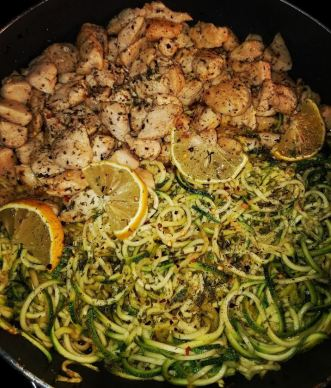 Zucchini and chicken