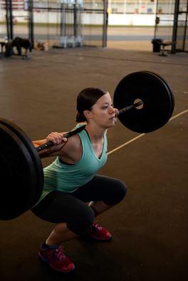 woman squating