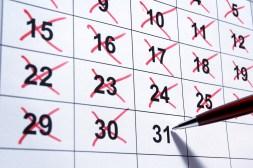 unbroken chain - X calendar