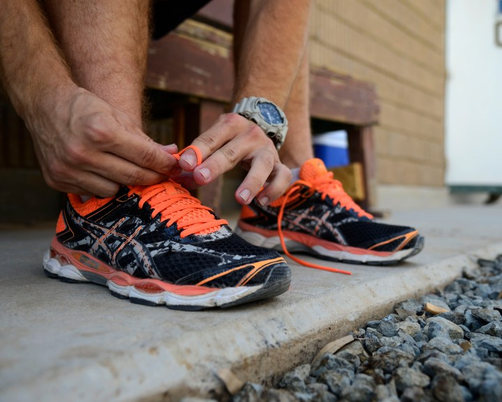 Putting on Running Shoes (Senior Airman Racheal E. Watson).JPG
