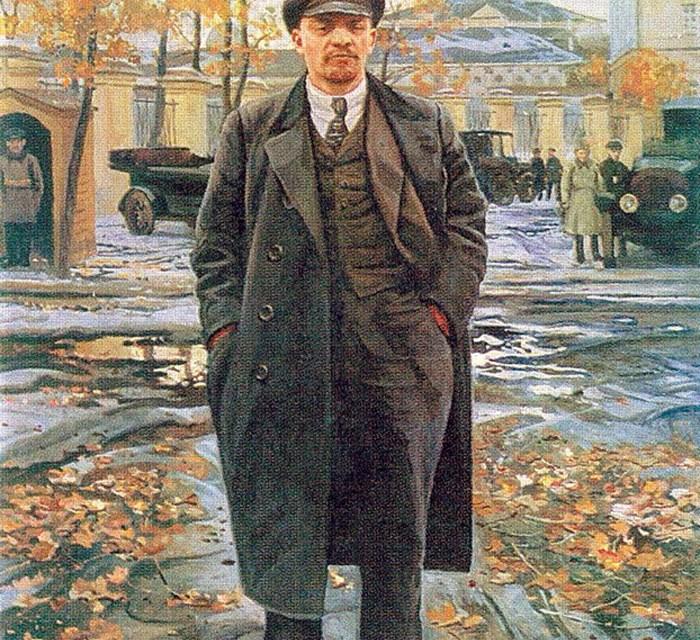 Mit Lenins Gehrock gibt es keinen aufrechten Gang mehr.