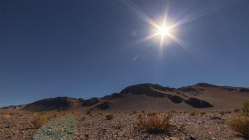Montañas y sol