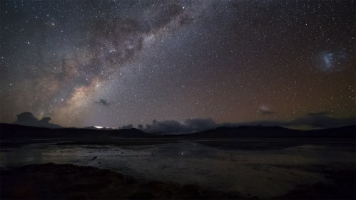 Galaxias y laguna