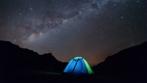 Carpa y Vía Láctea