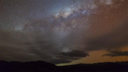 Vía Láctea y nubes