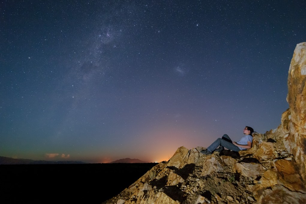 Iluminación artificial de paisajes nocturnos