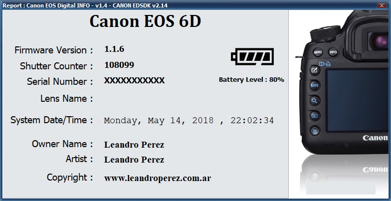 Canon EOS DIGITAL Info