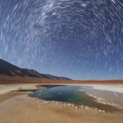 Iridium flare star trail