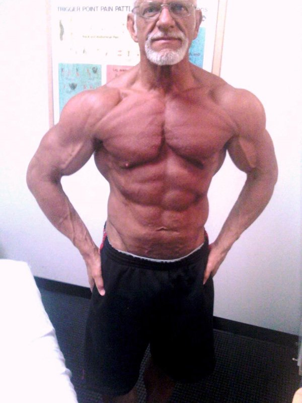 Old man weight training