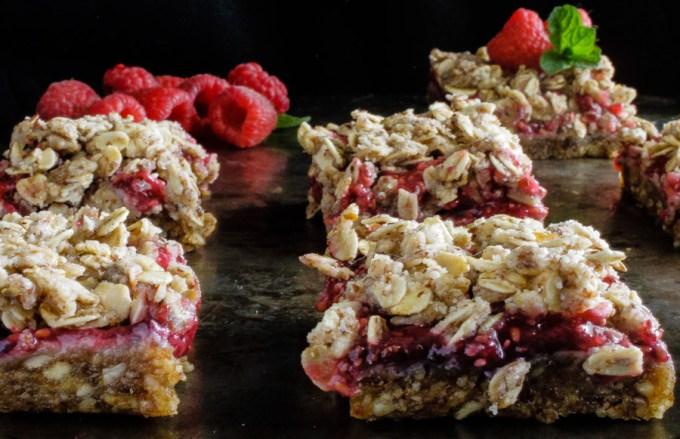 Raw Raspberry Crumb Bars