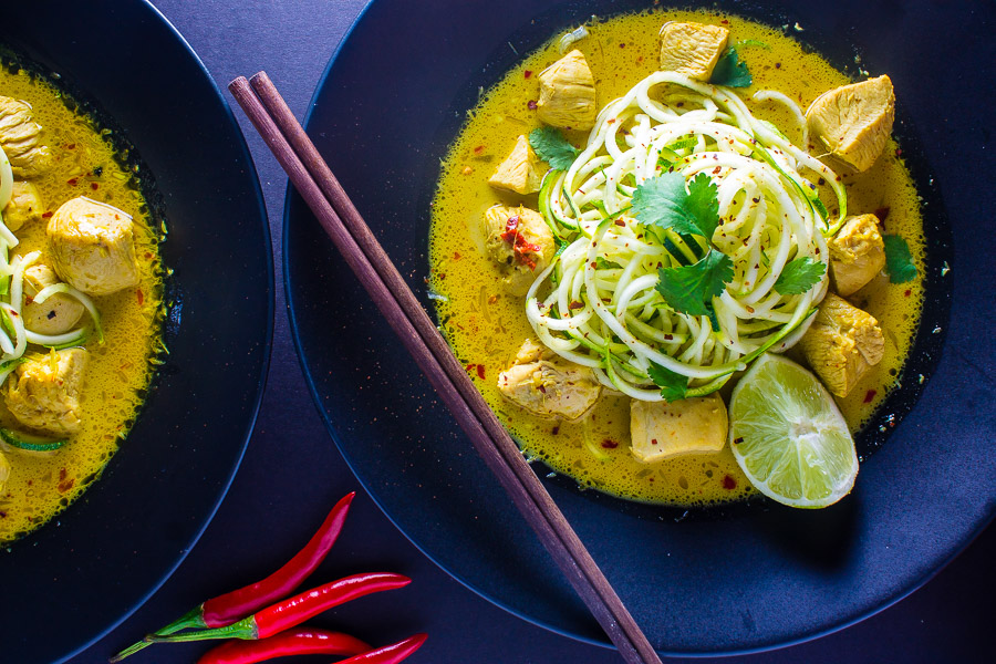 Thai Coconut Curry with Zucchini Noodles