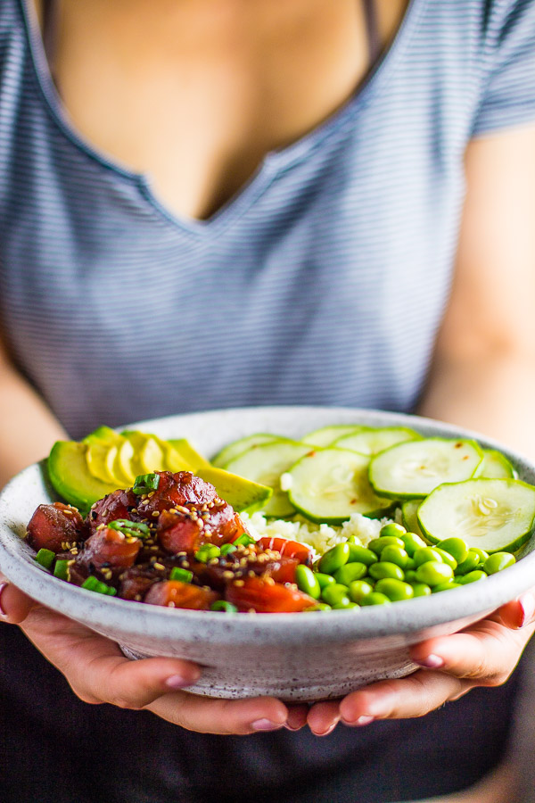 Cauliflower Rice Salmon Bowl