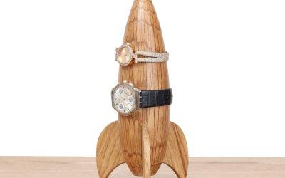 Rocket watch holder