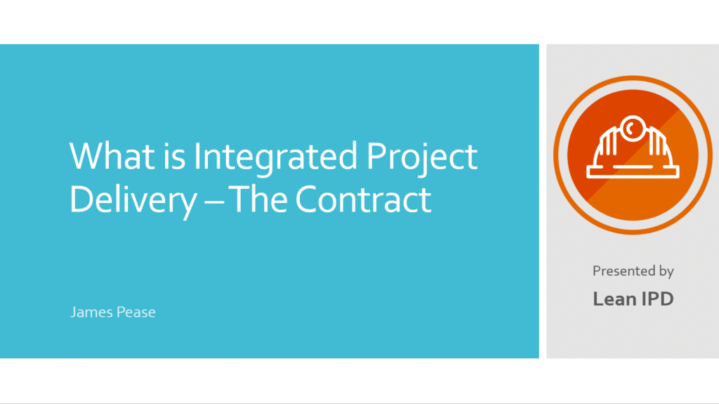 IPD Contract First Slide