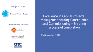 Webinar & Slides: Excellence in Capital Projects – Part 3: Managing During Construction
