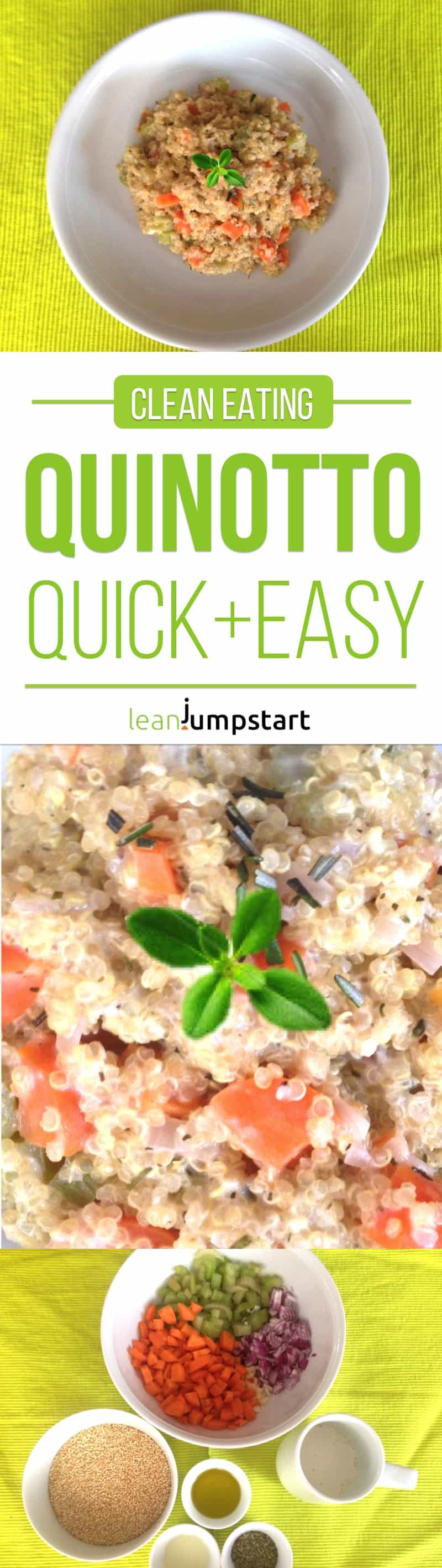 clean eating quinotto: grab this quick and easy quinoa risotto recipe!