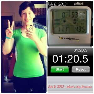 Weekend Highlights – #plankaday, spinning and a lot of healthy food ideas