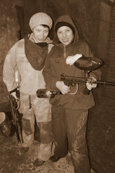 February 19, 2011, playing paintball