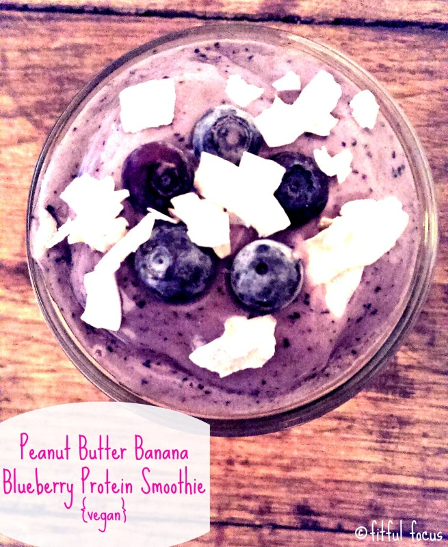 Tasty Tuesday: Peanut Butter Banana Blueberry Protein Smoothie