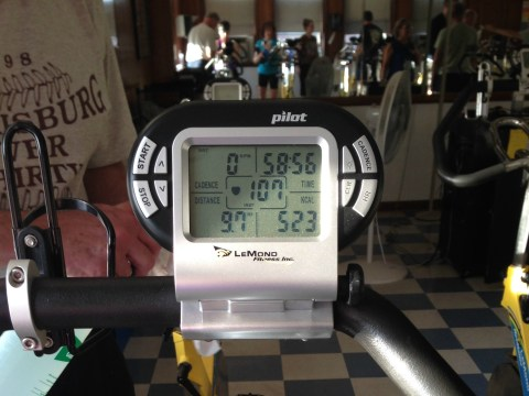 Cycling class with Jim on Monday